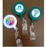 orçamento de roller clips de crachá para brindes Interlagos