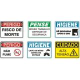 placa de pvc impressão digital preço Jaguaré