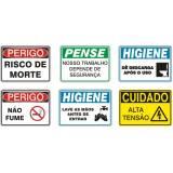 placas de pvc com adesivos Itapecerica da Serra