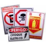 placas de pvc impressão digital Jardim São Luiz